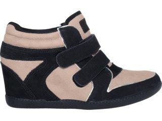 Sneaker Feminino Ramarim 12-70201 Preto/avelã - Tamanho Médio
