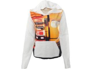 Blusão Feminino Coca-cola Clothing 403200113 Off White - Tamanho Médio
