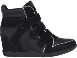 Sneaker Feminino Ramarim 12-70202 Preto/ouro - Tamanho Médio