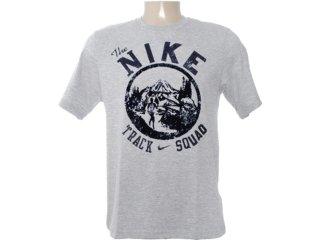 Camiseta Masculina Nike 481634-063 Cinza/marinho - Tamanho Médio