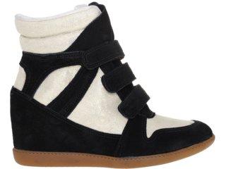 Sneaker Feminino Hetane 1201202 Preto/off White - Tamanho Médio