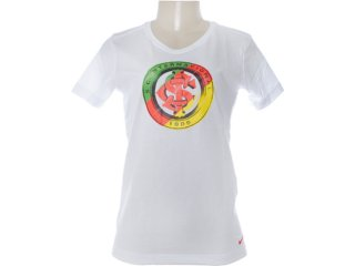 Camiseta Feminina Inter 527894-100 Branco - Tamanho Médio