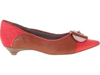 Sapato Feminino Ramarim 12-2202 Goiaba/castanho - Tamanho Médio