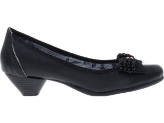Sapato Feminino Bela Flor 3000 Preto - Tamanho Médio