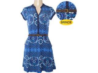 Vestido Cinto Feminino Hering 09jm 1a00s Azul - Tamanho Médio