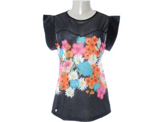 Blusa Feminina Dopping 015652529 Estampado Preto - Tamanho Médio