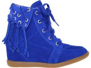 Sneaker Feminino Anna Brenner 1948 Azul Bic - Tamanho Médio