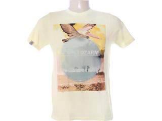 Camiseta Masculina Dzarm 6bv8 Ytg10 Amarelo - Tamanho Médio