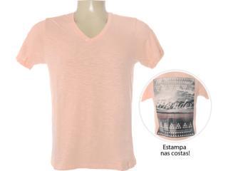 Camiseta Masculina Dzarm 6bvt Lkv10 Salmão - Tamanho Médio