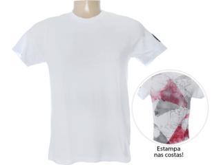 Camiseta Masculina Dzarm 6bv8 Noa10 Branco - Tamanho Médio