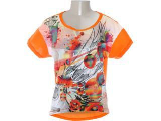 Camiseta Feminina Coca-cola Clothing 343200597 Tangerina - Tamanho Médio