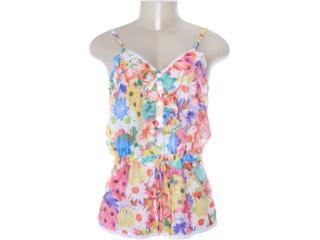 Blusa Feminina Dopping 015652571 Floral - Tamanho Médio
