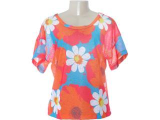 Blusa Feminina Dopping 015652507 Floral Color - Tamanho Médio