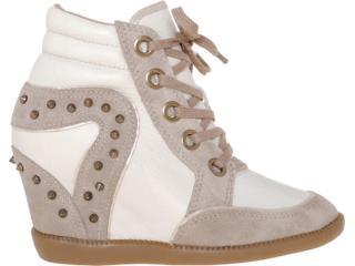 Sneaker Feminino Bottero 175404 Nude/off White - Tamanho Médio