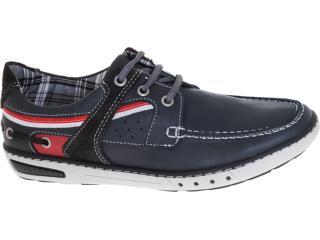 Sapato Masculino Pegada 12102-10 Navy/chumbo/vermelho - Tamanho Médio