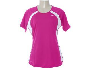 Camiseta Feminina Nike 458962-600 Violeta/branco - Tamanho Médio
