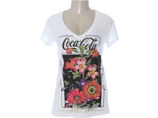 Camiseta Feminina Coca-cola Clothing 343200602 Off White - Tamanho Médio