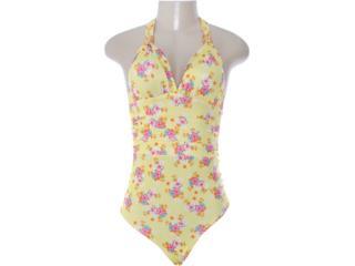 Body Feminino Dopping 016252507 Floral Amarelo - Tamanho Médio