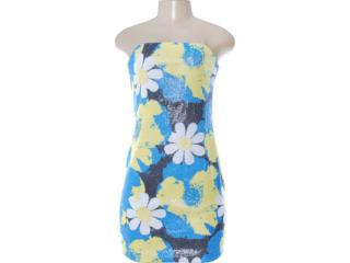 Vestido Feminino Dopping 018052509 Amarelo/azul - Tamanho Médio