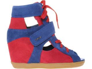 Sneaker Feminino Quiz 69906 Marinho/vermelho - Tamanho Médio