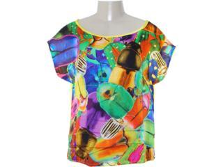 Camiseta Feminina Coca-cola Clothing 343200587 Amarelo - Tamanho Médio