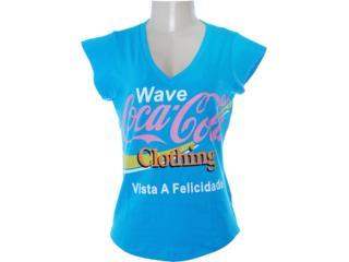 Blusa Feminina Coca-cola Clothing 343200622 Azul - Tamanho Médio
