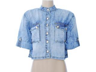 Camisa Feminina Dopping 011912501 Jeans - Tamanho Médio