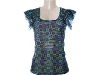 Blusa Feminina Dopping 015652553 Preto/verde - Tamanho Médio