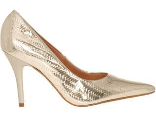 Sapato Feminino Vizzano 1071607 Dourado - Tamanho Médio