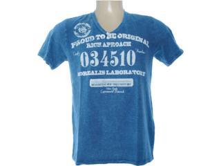 Camiseta Masculina Dzarm 6bwh Au410 Azul Estonado - Tamanho Médio