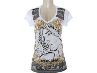 Blusa Feminina Moikana 7131 Branco - Tamanho Médio
