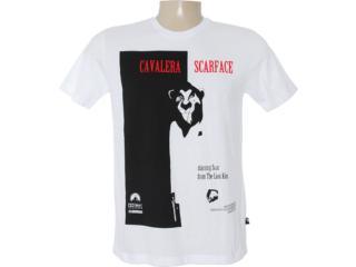 Camiseta Masculina Cavalera Clothing 01.01.6709 Branco - Tamanho Médio