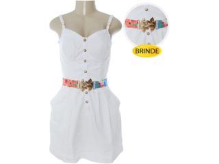 Vestido Feminino Dopping 018032503 Branco - Tamanho Médio