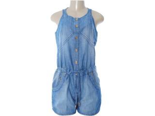 Macaquinho Feminino Dopping 019012507 Jeans - Tamanho Médio