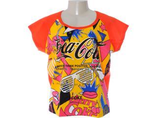 Camiseta Feminina Coca-cola Clothing 343200573 Vermelho - Tamanho Médio