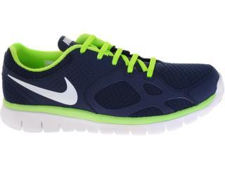 Tênis Masculino Nike 512019-401 Flex 2012 rn Marinho/limão - Tamanho Médio