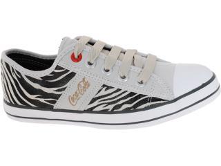 Tênis Feminino Coca-cola Shoes Cc0144 Zebra - Tamanho Médio