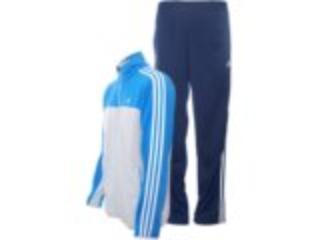 Abrigo Masculino Adidas X22780 Marinho/cinza/azul - Tamanho Médio