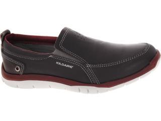 Sapato Masculino Kildare Bk482 Chocolate/bordo - Tamanho Médio