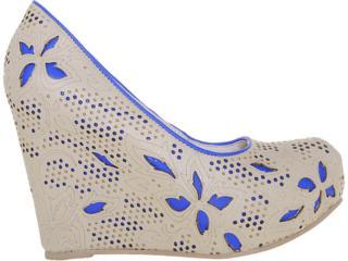 Sapato Feminino Tanara 3781 Fibra/royal - Tamanho Médio