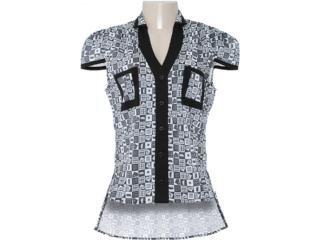 Camiseta Feminina Dopping 011802507 Estampado Preto - Tamanho Médio