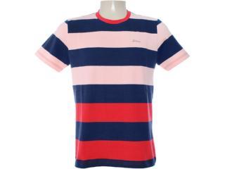 Camiseta Masculina Dopping 015062508 Salmão/marinho - Tamanho Médio