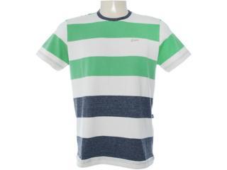 Camiseta Masculina Dopping 015062508 Bege/verde - Tamanho Médio