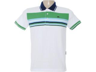 Camisa Masculina Dopping 015462522 Branco/verde - Tamanho Médio