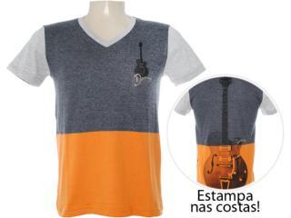 Camiseta Masculina Dopping 015262546 Preto Estonado - Tamanho Médio