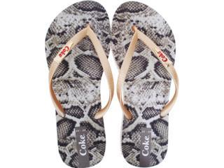 Chinelo Feminino Coca-cola Shoes Cc0230 Serpente - Tamanho Médio