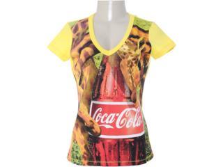 Blusa Feminina Coca-cola Clothing 343200628 Amarelo - Tamanho Médio