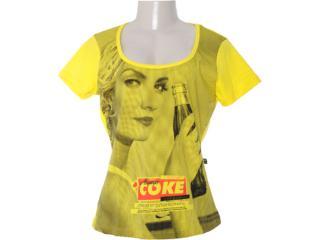 Blusa Feminina Coca-cola Clothing 343200665 Amarelo - Tamanho Médio