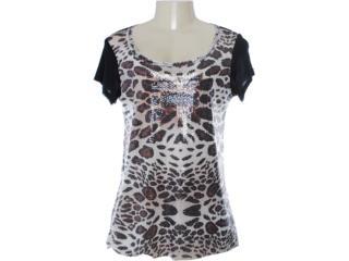 Camiseta Feminina Lafort 655 Preto - Tamanho Médio
