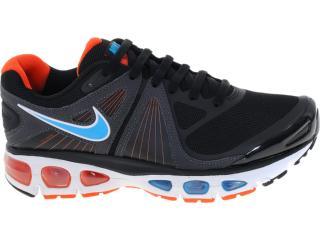 Tênis Masculino Nike 453976-048 Air Max Tailwind +4 Preto/laranja/azul - Tamanho Médio